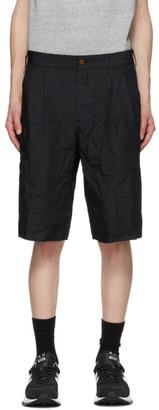 Comme des Garcons Homme Deux Black Garment-Dyed Shorts