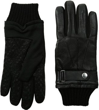 GII Men's Fine Leather and Softshell Touchscreen Gloves with Strap