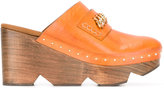 Stella McCartney Sabot platform mules - women - Artificial Leather/wood/rubber - 37