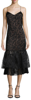 Tracy Reese Burnout Overlay Slip Dress