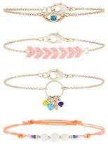 Accessorize 4x Exotic Island Friendship Bracelet Pack