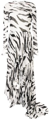 Philosophy di Lorenzo Serafini Zebra Print Dress