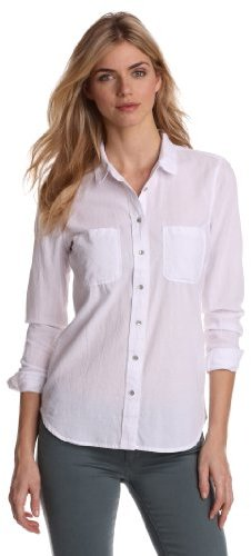 Calvin Klein Jeans Women?s Petite Oxford Fitted Chambray Shirt