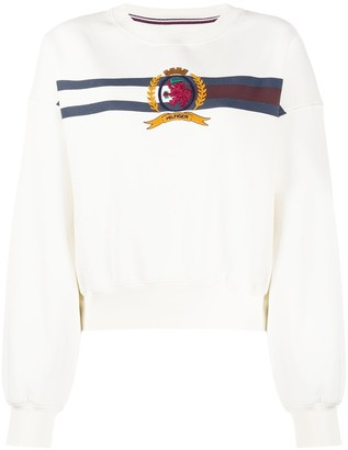 Tommy Hilfiger Crest-Embroidered Sweatshirt