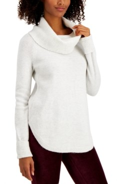 Style&Co. Style & Co Plus Size Waffle-Knit Cowlneck Sweater, Created for Macy's