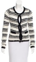 Alice + Olivia Jewel Embellished Striped Cardigan