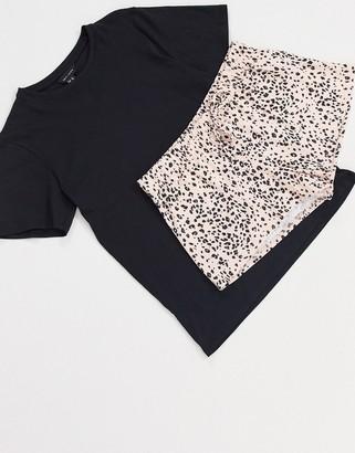 New Look animal print pyjama short set