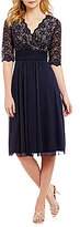 Jessica Howard Petite Surplice Bodice Dress