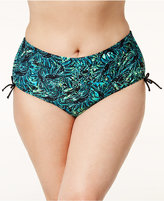 Raisins Curve Plus Size Good Dharma Printed Side-Tie Bikini Bottoms