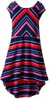 Tommy Hilfiger Directional Stripe Dress (Big Kids)