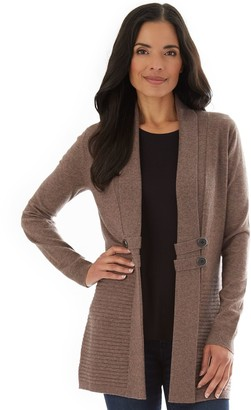Apt. 9 Petite Button-Tab Open Front Cardigan
