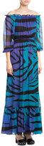 Diane von Furstenberg Printed Silk Chiffon Maxi Dress
