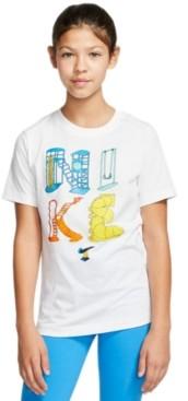 Nike Big Girls Playground Cotton T-Shirt