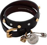 Alexander McQueen Safety Pin Double Wrap Bracelet