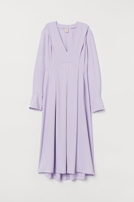 H&M V-neck Dress - Purple
