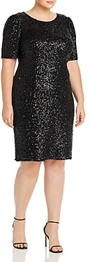 Adrianna Papell Plus Sequin Cocktail Dress