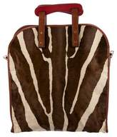 RED Valentino Ponyhair Fold-Over Bag