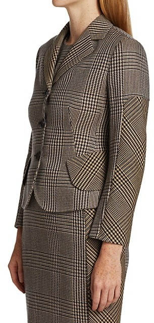 Thumbnail for your product : Akris Lausanne Prince De Galles Check Wool & Silk Jacket