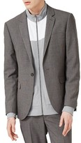 Topman Men's Textured Skinny Fit Suit Jacket
