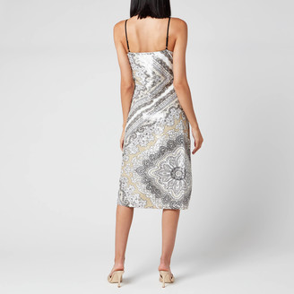 MICHAEL Michael Kors Women's Scarf Bias Sequin Slip Dress