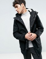 Bellfield Fleece Lined Parka With Fish Tail