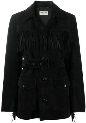 Saint Laurent Fringe Suede Jacket