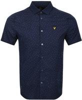 Lyle & Scott Short Sleeved Mini Dot Shirt Navy