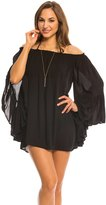Indah Need Want Love Kamani Solid Angel Wing Cover Up Tunic 8136452