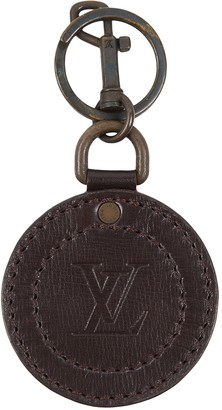 Louis Vuitton Brown Leather Bag charms
