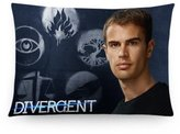 Generic Pillow cover Generic Custom Zippered Rectangle Pillow Case Theo James Poster Pattern Design Standard Size 20x30 inch (Twin Sides)