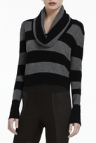 BCBGMAXAZRIA Samira Striped Cropped Top