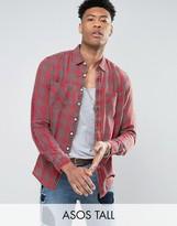 Asos TALL Regular Fit Plaid Check Shirt