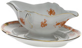 Herend Chinese Boutique Rust Gravy Boat with Fixed Stand