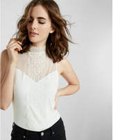 Express Lace Mock Neck Tank