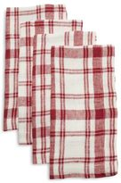 Sur La Table Checkered Linen Napkins, Set of 4