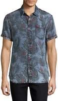True Religion Men's Floral Cotton Sportshirt