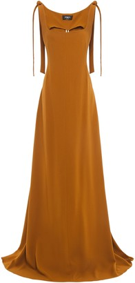 Rochas Draped Crepe Gown