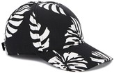 Dolce & Gabbana Black Leaf-print Cotton Blend Cap