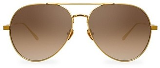 Linda Farrow 792 C4 Oversized Aviator Sunglasses