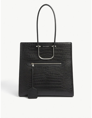 Alexander McQueen Tall Story crocodile-embossed leather tote bag