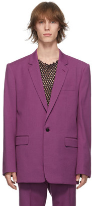 John Lawrence Sullivan Pink Wool Single-Button Blazer