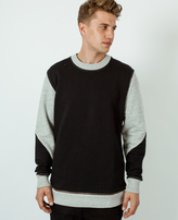 A Question Of Zip-Off Sweatshirt Black/Grey Melange