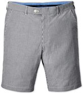 Blue Slim Fit Seersucker Stripe Cotton Shorts Size 30