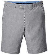 Blue Slim Fit Seersucker Stripe Cotton Shorts Size 32 By Charles Tyrwhitt