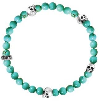 King Baby Studio Men's Turquoise Bead Bracelet