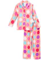 Komar Kids Pink & Blue Polka Dot Pajama Set - Girls