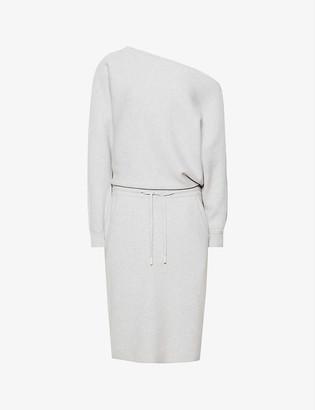 Reiss Amara off-the-shoulder knitted midi dress