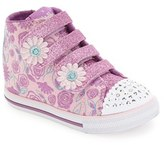 Skechers Toddler Girl's 'Twinkle Toes - Chit Chat' Light-Up High Top Sneaker
