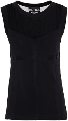 Boutique Moschino Mesh-paneled Stretch-knit Top