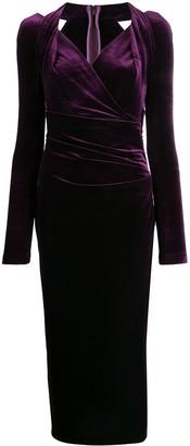 Talbot Runhof Ruched Dress